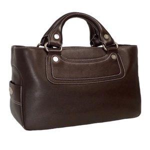 CELINE • Boogie Bag Leather Handbag Made In Italy